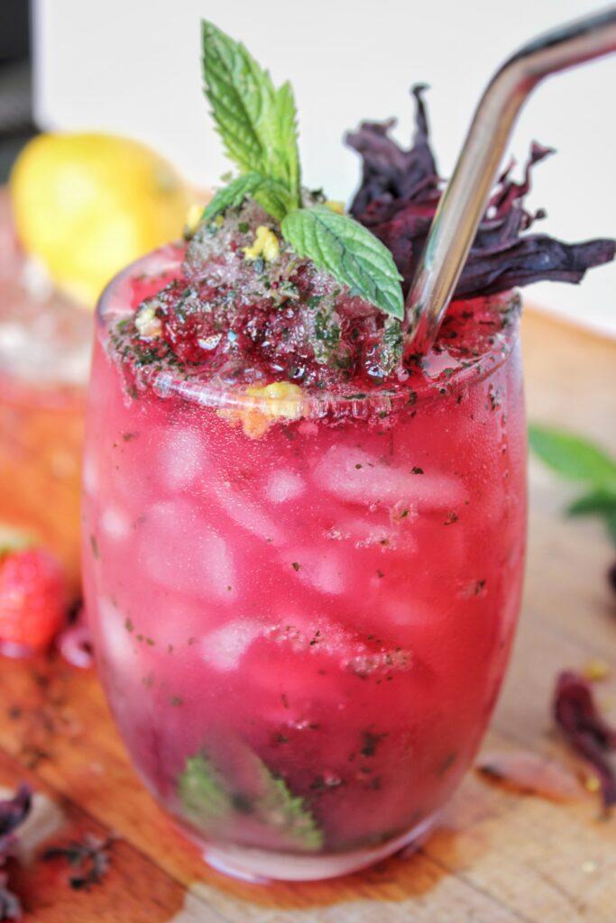 Cocktail à l'hibiscus