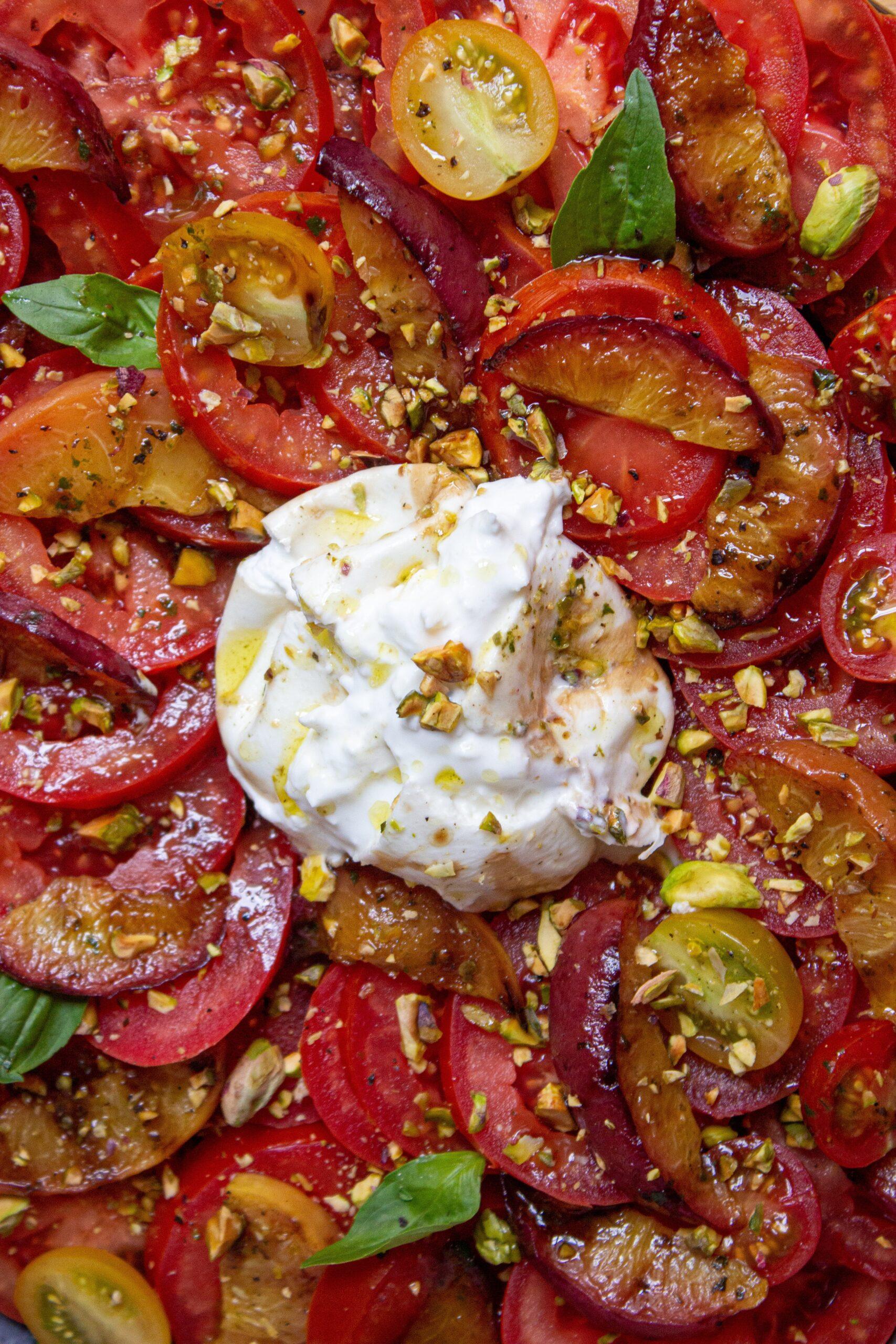 Tomates et Burrata cremeuse